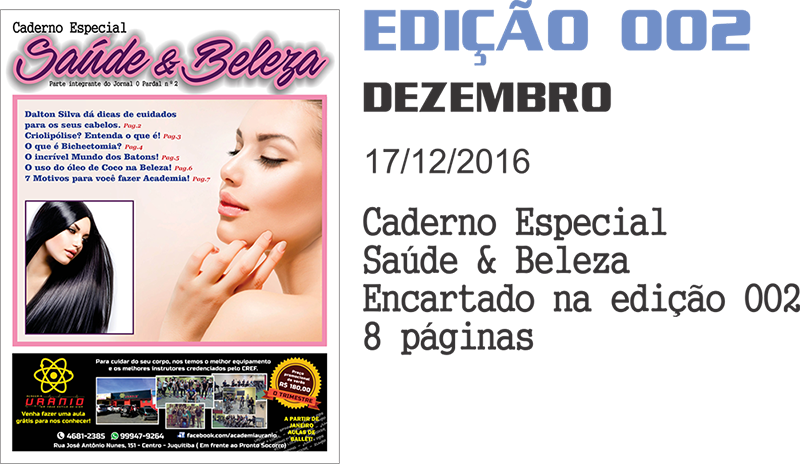 EDIÇÃO DIGITAL 002- SAUDE E BELEZA